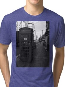 English Red Phone Box Tri-blend T-Shirt