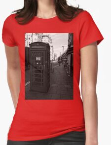 English Red Phone Box Womens Fitted T-Shirt