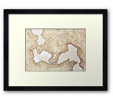 maps from a inexistent world  Framed Print