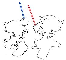 Hedgehogs with lightsabers  by Appupple