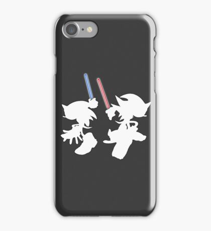 Hedgehogs with lightsabers  iPhone Case/Skin