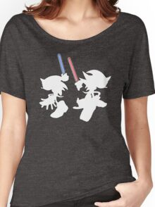 Hedgehogs with lightsabers  Women's Relaxed Fit T-Shirt