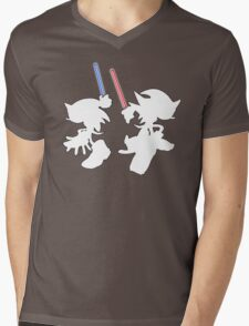 Hedgehogs with lightsabers  Mens V-Neck T-Shirt