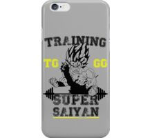 TRAINING TO GO SUPER SAIYAN (new) iPhone Case/Skin