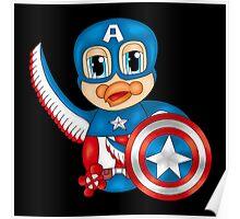 Captain America Bird Poster
