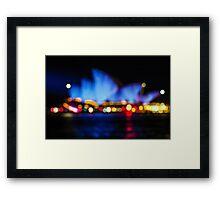 Bokeh City Lights Framed Print