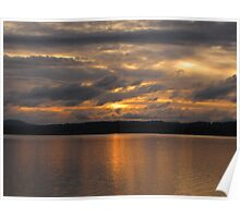 Watching the Storm Roll in at Sunset  Poster
