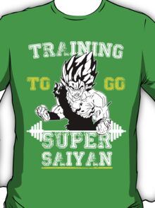 TRAINING TO GO SUPER SAIYAN (new) WHITE  T-Shirt