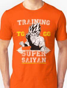 TRAINING TO GO SUPER SAIYAN (new) WHITE  T-Shirt