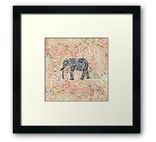 Tribal Paisley Elephant Colorful Henna Pattern Framed Print
