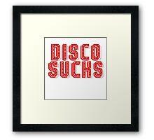 Disco Sucks Framed Print
