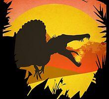 Isla Sorna - Site B - Spinosaurus Rex  by JamieHarknett