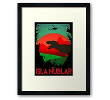 Isla Nublar - Site A - Tyrannosaurus Rex - T-REX  Framed Print