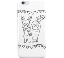A Matching Pair - White iPhone Case/Skin