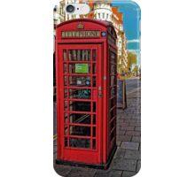 English Red Phone Box iPhone Case/Skin