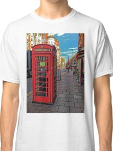 English Red Phone Box Classic T-Shirt