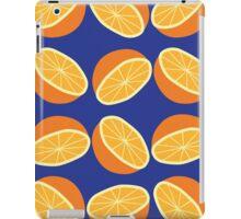 Orange Pattern - Blue iPad Case/Skin