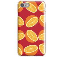 Orange Pattern - Maroon iPhone Case/Skin