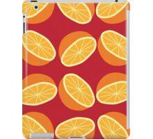 Orange Pattern - Maroon iPad Case/Skin