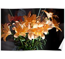 A Glowing Floral Explosion Poster