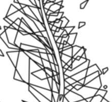 Line Feather Sticker
