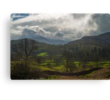 Mountains near Elterwater Cumbria Canvas Print