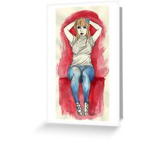 Sitting Cutie Greeting Card