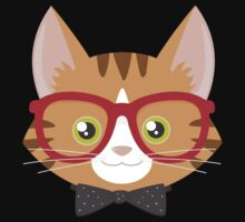 Orange Tabby Hipster Cat Kids Clothes