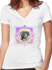 Vintage Woman Women's Fitted V-Neck T-Shirt