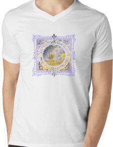 Celestial Heavens Sun & Stars Mens V-Neck T-Shirt