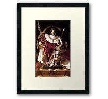 Napoleon On His Imperial Throne Framed Print