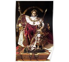 Napoleon On His Imperial Throne Poster