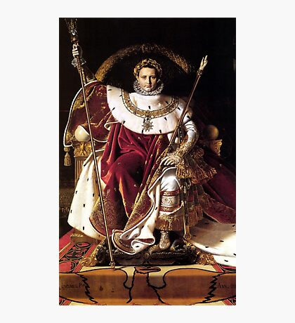 Napoleon On His Imperial Throne Photographic Print