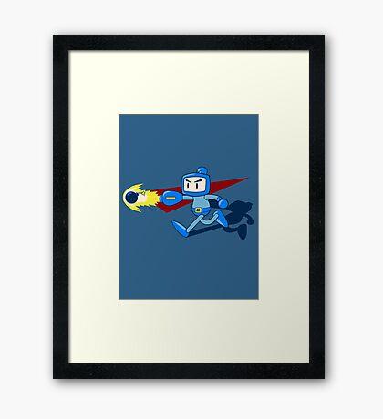 The Blue Bomber (man) Framed Print