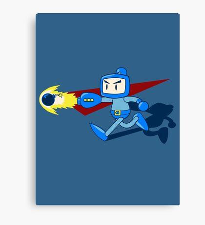 The Blue Bomber (man) Canvas Print