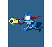 The Blue Bomber (man) Photographic Print