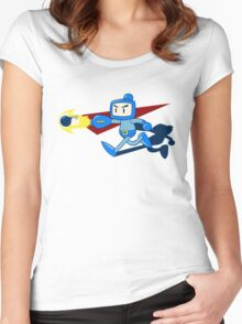 The Blue Bomber (man) Women's Fitted Scoop T-Shirt