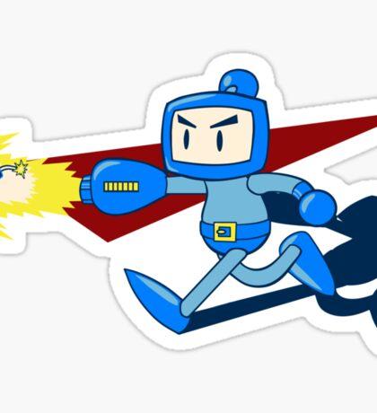 The Blue Bomber (man) Sticker