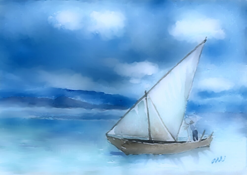 Dhow Fishing Vessel by arline wagner