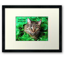 Cat St. Patrick Framed Print