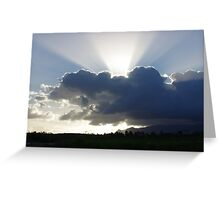 Crocodile Clouds, Sunrays and Mt.Bartle Frere, FNQ. Greeting Card