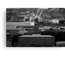 Working Newcastle black & white Canvas Print