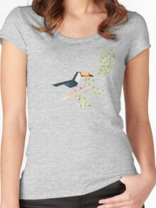 Low poly watercolor - Toucan Women's Fitted Scoop T-Shirt