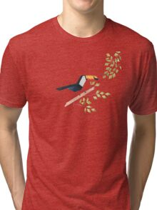 Low poly watercolor - Toucan Tri-blend T-Shirt