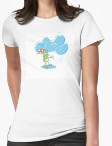 Card with a frog. Womens Fitted T-Shirt