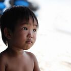 Thai Boy At The Beach by Nicholas Richardson
