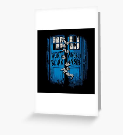 The walking Angels Greeting Card