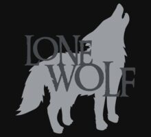 Lone WOLF with wolf howling Kids Clothes