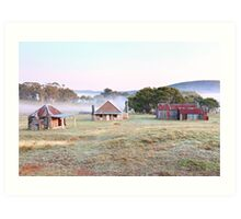 Coolamine Homestead Dawn, Kosciusko National Park, Australia Art Print