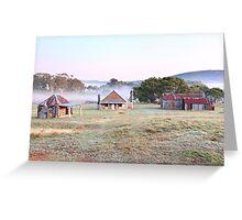 Coolamine Homestead Dawn, Kosciusko National Park, Australia Greeting Card